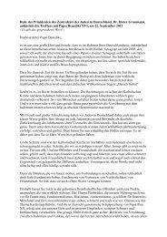 Rede des Präsidenten des Zentralrats der Juden in Deutschland, Dr ...