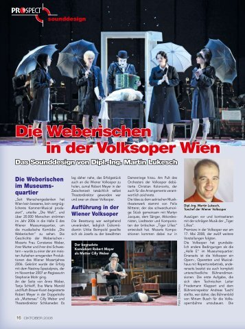 Die Weberischen in der Volksoper Wien – Sounddesign von Martin ...