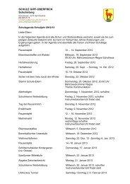 SCHULE GIPF-OBERFRICK Schulleitung