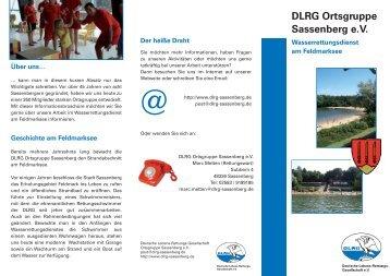 Wasserrettungsdienst am Feldmarksee - DLRG - Ortsgruppe ...