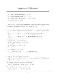 Mengen und Abbildungen N ... Menge der naturlichen Zahlen