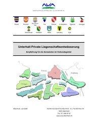 Unterhalt Private Liegenschaftsentwässerung - Abwasserverband ...
