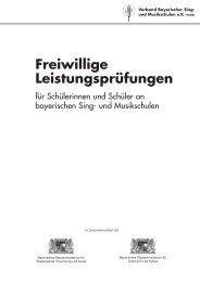 Vorwort - Verband Bayerischer Sing