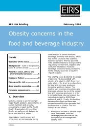 Obesity concerns in the food and beverage industry - Eiris