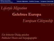 Lifestyle Migration Gelebtes Europa European Citizenship - michael ...
