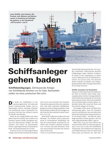 Schiffsanleger gehen baden - Hahn Rechtsanwälte Partnerschaft