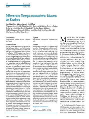 DifferenzierteTherapiemetastatischerLäsionen desKnochens