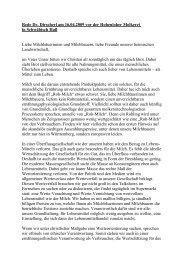 Rede Dr. Dirscherl am 16.04.2009 vor der Hohenloher Molkerei in ...