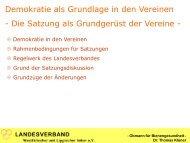 Demokratie als Grundlage in den Vereinen - Landesverband ...