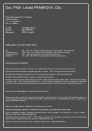 Charakteristika web - Frankova.pdf - Prešovská univerzita v Prešove