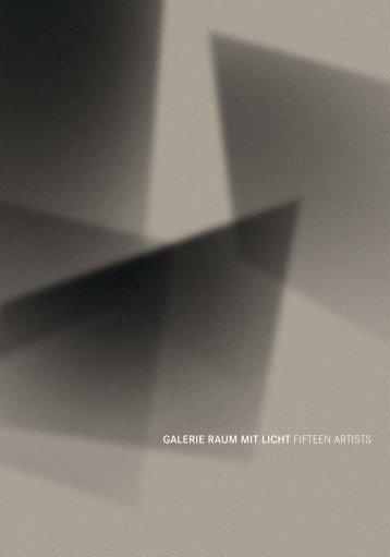 Galerie raum mit licht fifteen artists - Edgar Lissel