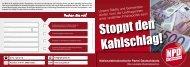 "Flugblatt ""Stoppt den sozialen Kahlschlag"" - NPD Kreisverband Gotha"