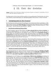 § 12. Gott der dreieine - Theologie-Skripten