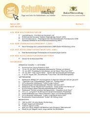 SchulNews online 6, Mai/Juni 2007 - Zum Kultusportal