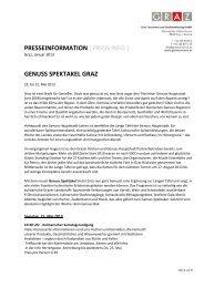 Genuss Spektakel 2013 - Graz Tourismus