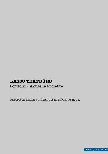 PORTFOLIO (pdf) - lasso textbüro