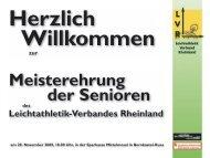 Präsentation zur Ehrung - Leichtathletik-Verband Rheinland e.V.