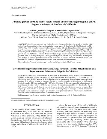 Full article - Latin American Journal of Aquatic Research