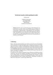 Kriterien kreativen Informatikunterrichts - Didaktik der Informatik