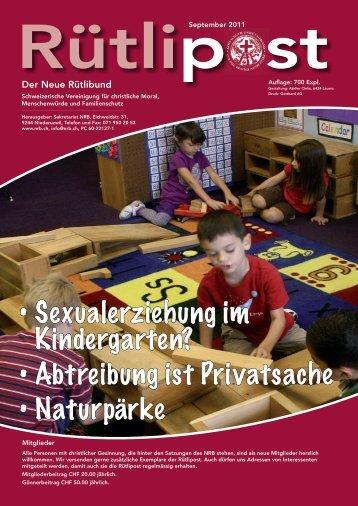 Rütlipost September 2011 - bei NRB