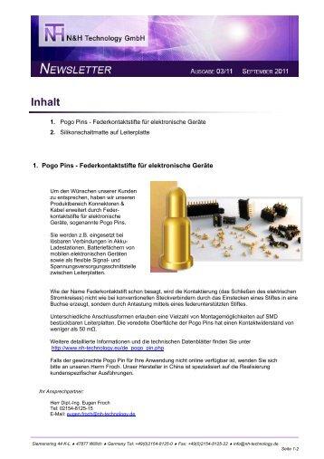 Ausgabe 2011/03 Pogo Pins - Federkontaktstifte für elektronische ...