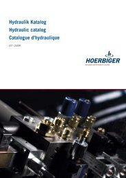 Hydraulik Katalog Hydraulic catalog Catalogue d'hydraulique