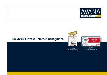 Überblick über die AVANA Invest Unternehmensgruppe