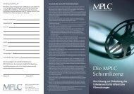 MPLC Broschüre