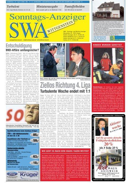 Ziellos Richtung 4. Liga - Siegerländer Wochen-Anzeiger