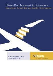 Stand März 2013 - bei der NBank