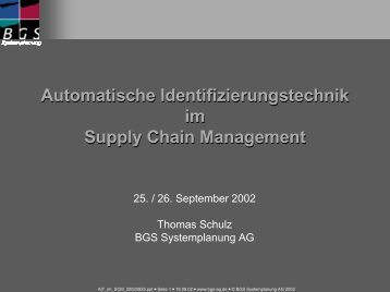 Automatische Identifizierungstechnik im Supply Chain Management ...