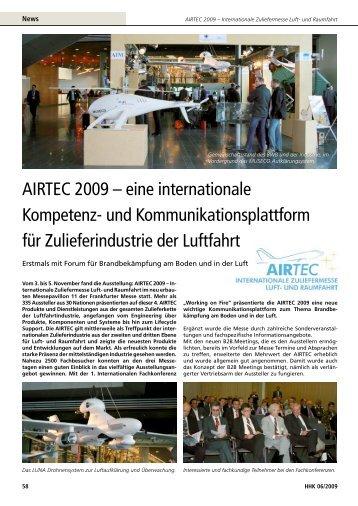 AIRTEC 2009 – eine internationale Kompetenz- und ...
