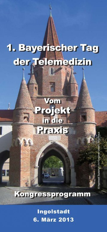 Kongressprogramm – PDF - 1. Bayerischer Tag der Telemedizin