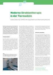 Onkologie / Strahlentherapie 4 - Medizinische Kleintierklinik