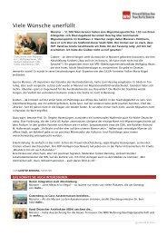 Viele Wünsche unerfüllt | Westfälische Nachrichten - Aktion 302