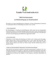 DFHV-Verhaltenskodex zur Berücksichtigung von Sozialstandards