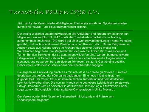 Chronik - Turnverein Pattern 1896 eV