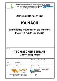 Technischer Bericht - Gemeinde Krottendorf-Gaisfeld