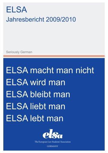 Jahresbericht ELSA-Deutschland e.V. 2009/2010 - ELSA Germany