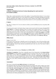 GERM4138 A History of Relations between German ... - UCL