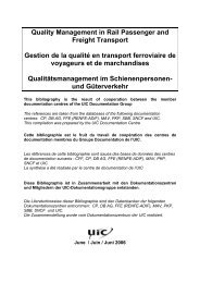 Quality Management in Rail Passenger and Freight Transport ... - UIC