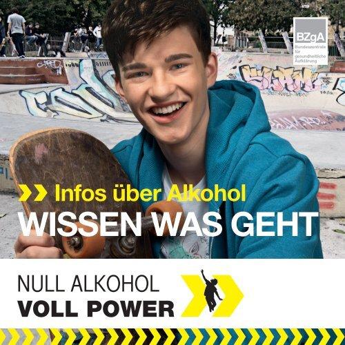 Broschüre WISSEN WAS GEHT - Null Alkohol