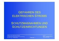 Gefahren des elektrischen Stromes - University Duisburg-Essen