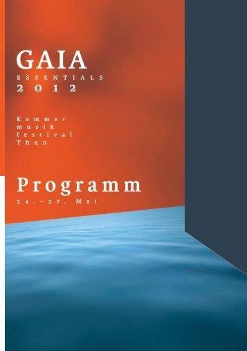 Programm - Gaia Festival