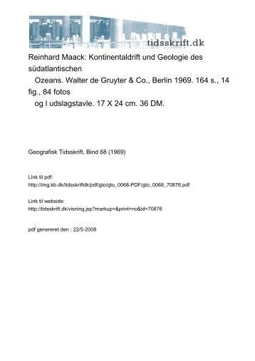Reinhard Maack: Kontinentaldrift und Geologie des südatlantischen ...