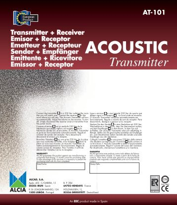 AT-101 ACOUSTIC Transmitter - Alcad