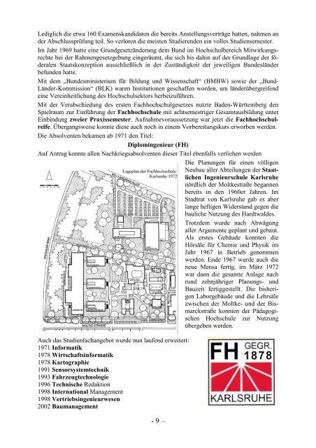 Geschichte der Hochschulen - Markomannia Karlsruhe