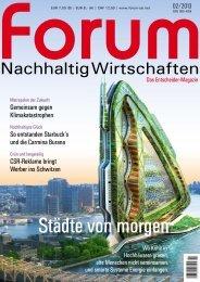 Forum Nachhaltig Wirtschaften, April 2013 - Mareke Wieben