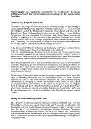 Positionspapier der Deutschen Gesellschaft für ... - Die DGMS