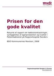 Prisen for den gode kvalitet - Regionshospitalet Randers